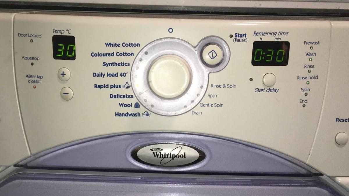 Error codes – Πλυντήρια ρούχων Whirlpool Dreamspace – tapavakos